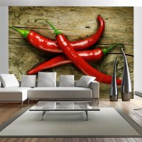 Fototapete  Spicy chili peppers 200x154 cm