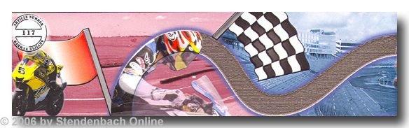 Bordüre selbstklebend Digitaldruck Motorrad