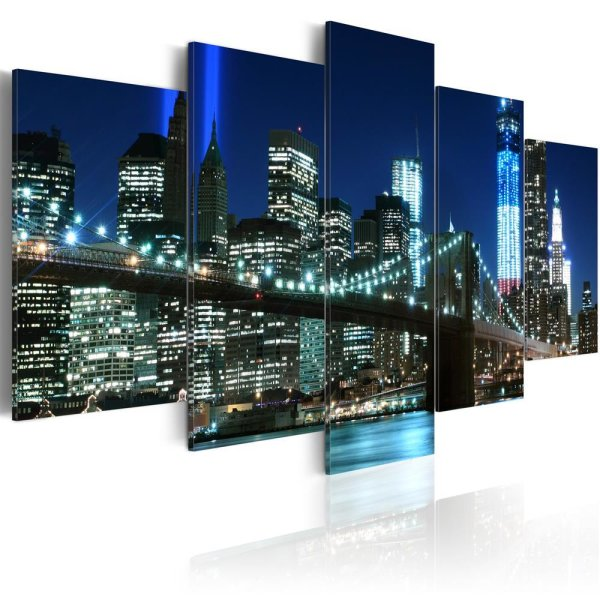 Wandbild blaues new york - Wandbild new york ...