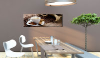 Wandbild  Afternoon in the cafe 120x40 cm