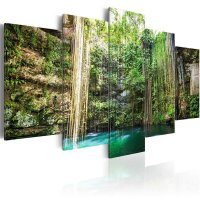 Wandbild  Waterfall of Trees 100x50 cm