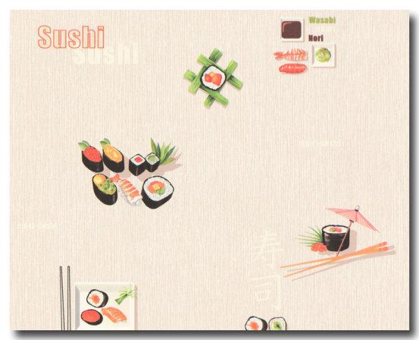 Tapeten Sushi Wasabi Nori