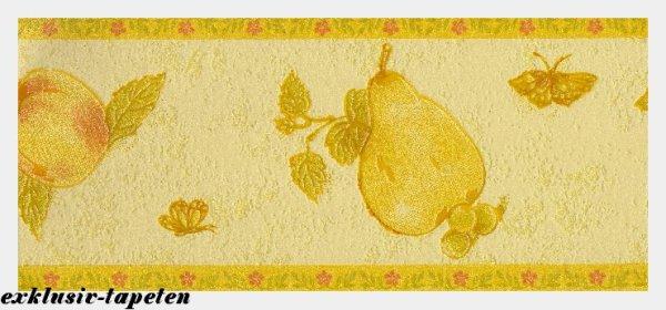 Bordüre Tapetenborten Küche Obst