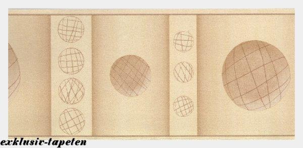 Bordüre Tapetenborten Grafik Retro Design