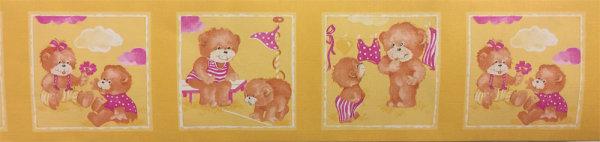 Bordüre Tapetenborte lustige Teddys Kinderzimmer