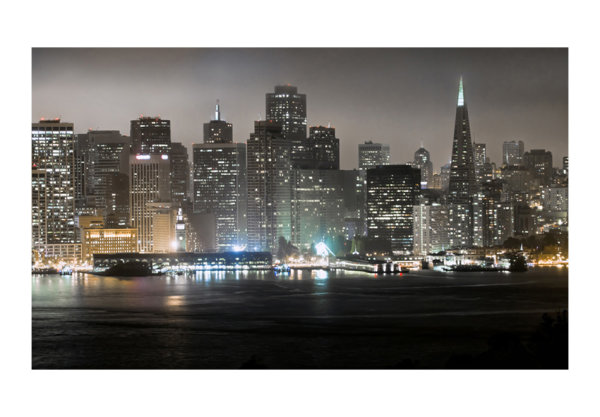 450x270 cm Fototapete San Francisco by night