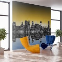 450x270 cm Fototapete Sunny glow over New York