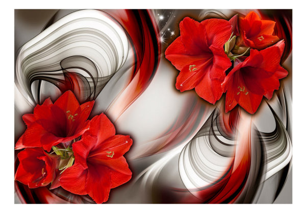 150x105 cm Fototapete Amaryllis Ballad of the Red