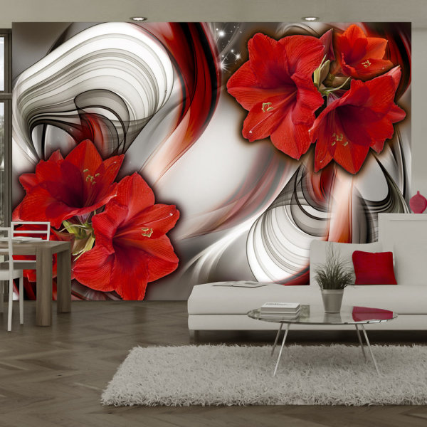 100x70 cm Fototapete Amaryllis Ballad of the Red