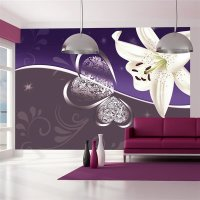 100x70 cm Fototapete Lily in shades of violet