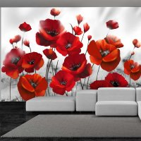 150x105 cm Fototapete Glowing poppies
