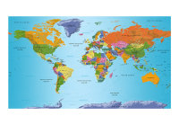 500x280 cm XXL Tapete  World Map: Colourful Geography II