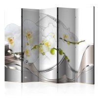 225x172 cm 5 - teiliges Paravent Pearl Dance of Orchids II