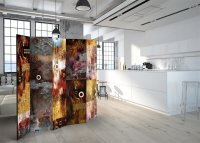 225x172 cm 5 - teiliges Paravent Painted Abstraction II