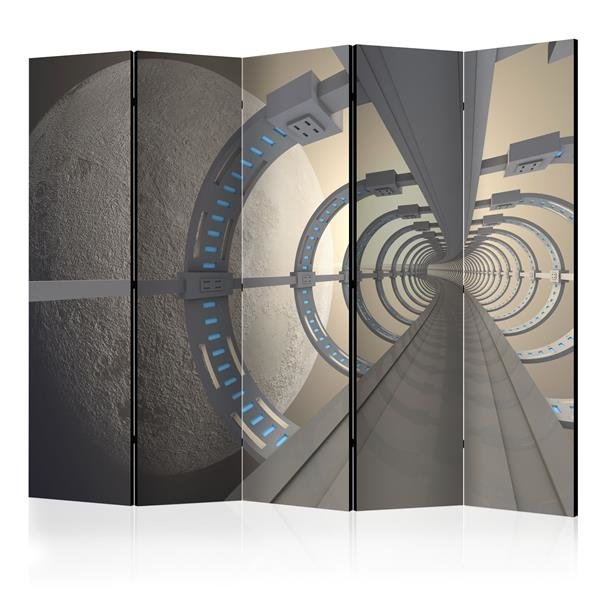 225x172 cm 5 - teiliges Paravent Cosmic Tunnel II