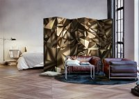 225x172 cm 5 - teiliges Paravent Abstract Symmetry II