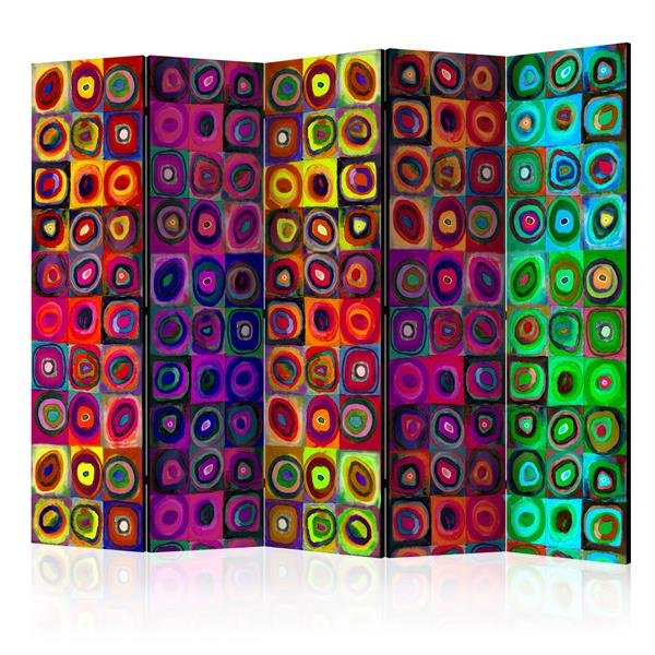 225x172 cm 5 - teiliges Paravent Colorful Abstract Art II