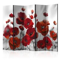 225x172 cm 5 - teiliges Paravent Poppies in the Moonlight II