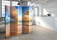 225x172 cm 5 - teiliges Paravent Morning by the Sea II