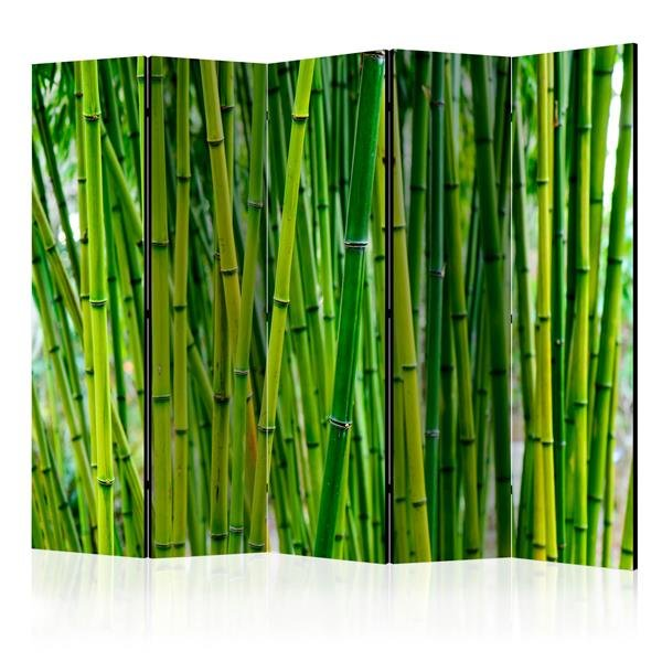225x172 cm 5 - teiliges Paravent Bamboo Forest II