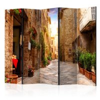 225x172 cm 5 - teiliges Paravent Colourful Street in...