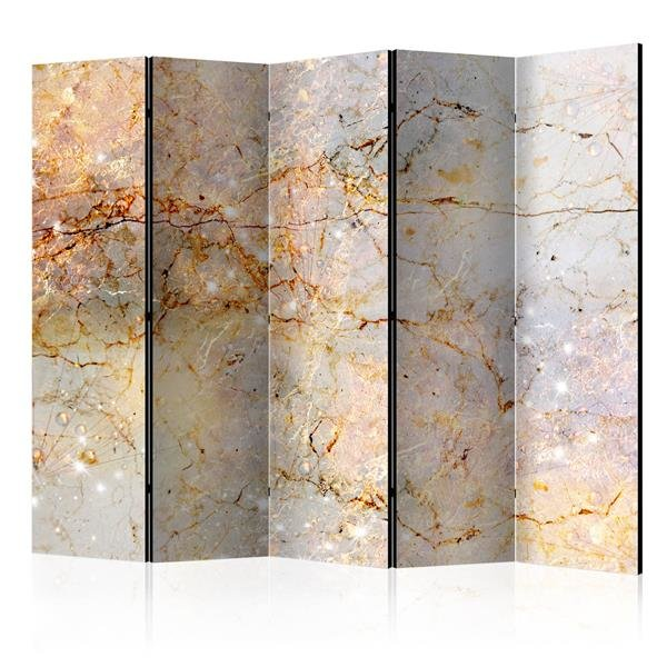 225x172 cm 5 - teiliges Paravent Enchanted in Marble II