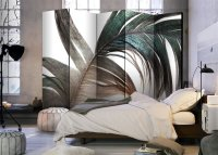 225x172 cm 5 - teiliges Paravent Beautiful Feather II