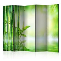 225x172 cm 5 - teiliges Paravent Green Bamboo II