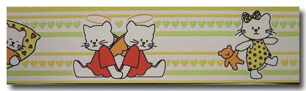 Bordüre Magic cats & hearts Boys & Girls