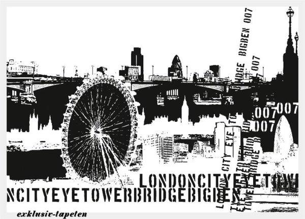 M wallpaper City London  1,33 x 2 Meter (150g Vlies)