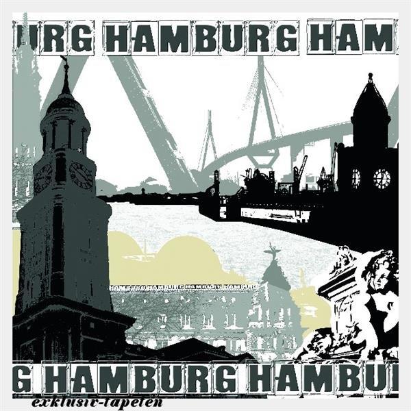 XXL wallpaper City Hamburg 5 x 3,33 Meter (150g Vlies)