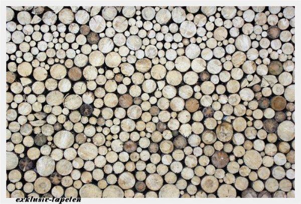 XXL wallpaper Stack of Wood 5 x 3,33 Meter (150g Vlies)