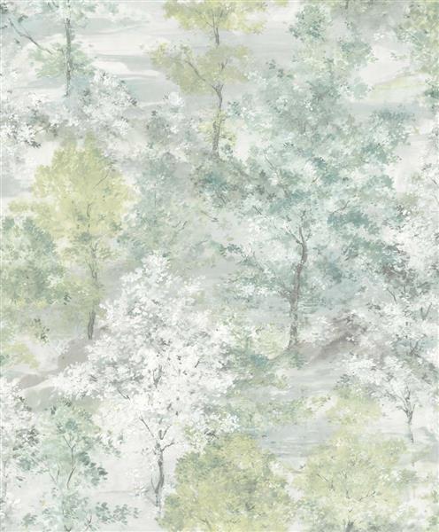 Global Fusion - Tapete aquarell Wald