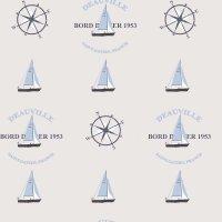 Coast to Coast Tapete Segelboot