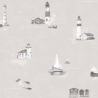 Coast to Coast Tapete Segelboot Leuchtturm