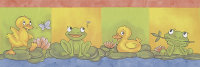 Bordüre Kinderzimmer Ente Frosch