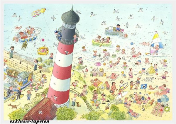 XXL wallpaper Lighthouse 5 x 3,33 Meter (150g Vlies)
