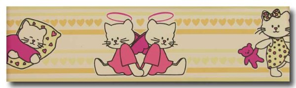 Bordüre  Boys & Girls  Magic cats & hearts