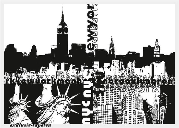 L wallpaper City New York 3 x 2,5 Meter (150g Vlies)