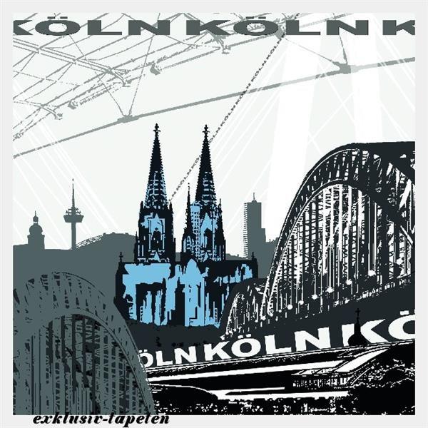 L wallpaper City Cologne 3 x 2,5 Meter (150g Vlies)