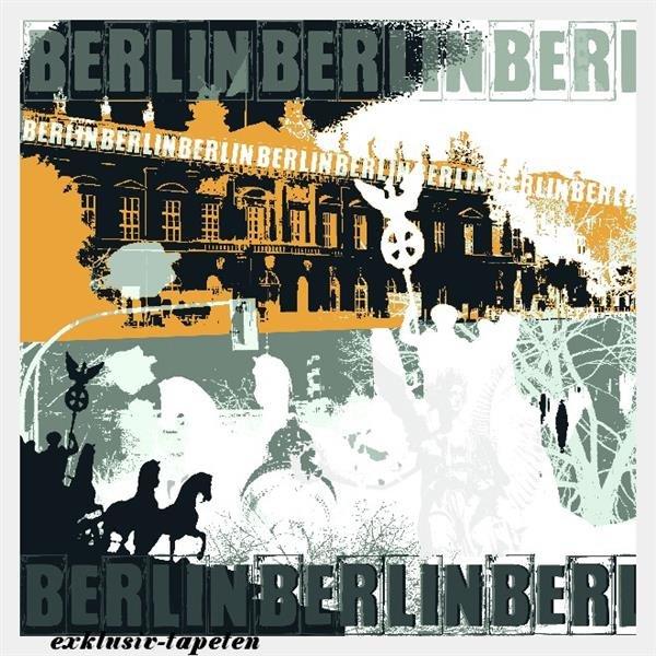L wallpaper City Berlin 3 x 2,5 Meter (150g Vlies)