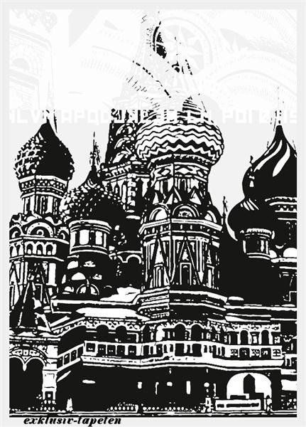 L wallpaper City Moscow 3 x 2,5 Meter (150g Vlies)