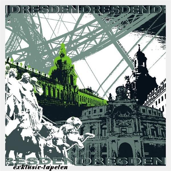 XL wallpaper City Dresden 4 x 2,67 Meter (150g Vlies)