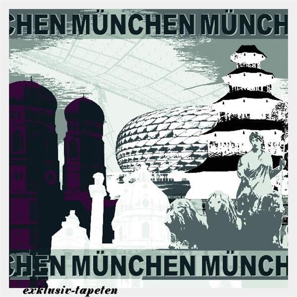 XL wallpaper City Munich 4 x 2,67 Meter (150g Vlies)