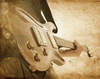 Grunge Gitarre Wallpaper  250 x 318 cm (HxB)