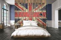 Grunge Great Britain Wallpaper 250 x 265 cm (HxB)