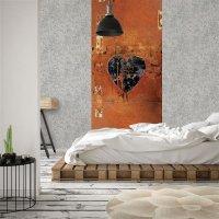 Grunge rostiges Herz Wallpaper 260 x 106 cm (HxB)