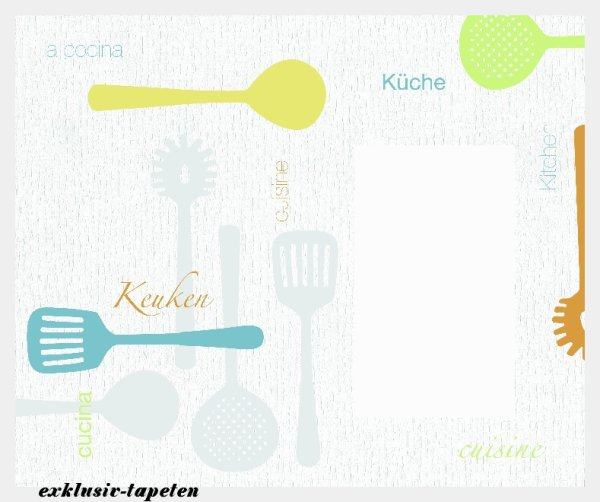 M wallpaper  Kitchen 1,33 x 2 Meter (150g Vlies)