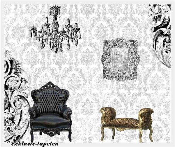 M wallpaper Baroque 3 / 1,33 x 2 Meter (150g Vlies)