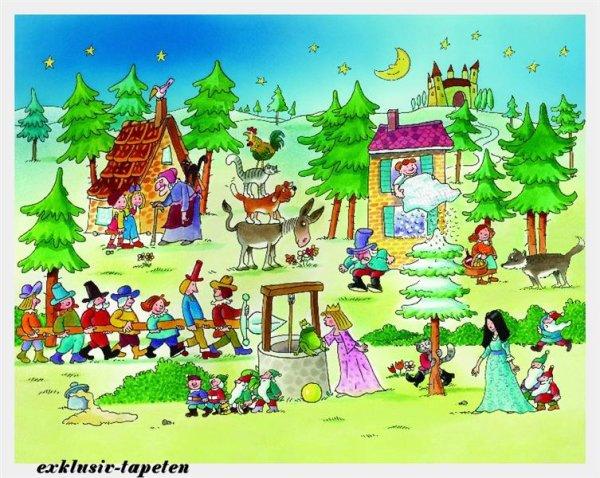 M wallpaper Fairy tale 1,33 x 2 Meter (150g Vlies)
